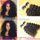 Wholesale Cheap Brazilian Virgin Human Kinky Curly Micro Loop Hair Extensions