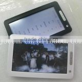 Hot! 7'' touch screen e-book with multifunction color-screenTFT PDF EPUB support video music photo support made in china