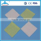 Medical Flat Gauze Fabric Swabs in White and Green Color