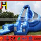 2016 18oz PVC Giant Inflatables Water Slides With Pool For Sale
