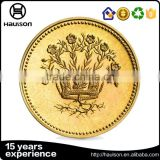 Alibaba trade assurance hot sale free sample pressing iron imitation gold plated custom metal round challenge coin