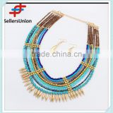 No.1 yiwu & ningbo exporting commission agent wanted costume african beads jewelry sets layer necklace set