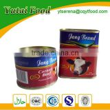 Palatable Round Food Storage Tin Can Corned Beef OEM Food