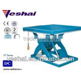 Veshai blue hydarulic lift table for warehouse and factory