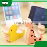 mini cartoon wooden portable desktop table cell mobile phone bracket stand support holder