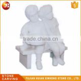 Garden Decoration Life Size Stone Statue Of Boy And Girl