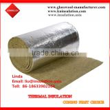 Fireproof Insulation, Heat Sealing Aluminum Foil Facing on Rock Wool blanket for Duct Wrap Material