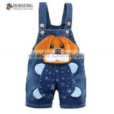 Latest jeans tops girls lovely loose fit fashin winter overalls for kids denim overall clothing