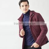 MSW0022 2016 autumn and winter new down jacket men's wear warm jacket with hat down jacket
