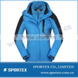 2014 New design 3 in 1 ladies snowboard jacket, womens hot snow ski jacket 2014,new design ladies ski apparel