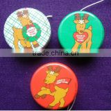OEM metal yoyo ball Christmas reindeer cute children yoyo
