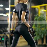 Ladies Gym Fitness Long Sleeve T-shirt Top and Pant Set 2 Piece Clothes