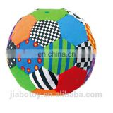 colorful hand ball rag baby stuff toys with bell hand shaking
