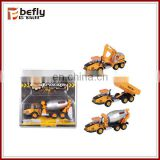Wholesale pull back die cast concrete pump truck model toys