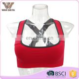 Fashionable cheap wholesale comfortable breathable cross sports bras