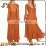 Look-through Back Lace Dress Women Maxi Dresses With Long Tail Patterns Of Lace Evening Dress