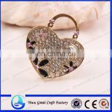 Factory wholesale Austrian crystals with drill heart-shaped accessories fashion jewelry Heart brooches accessories