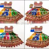 Navratri chaniya choli-Mluti colour Designer Indian Lehenga Choli for Garba Lehenga Choli 2017-Indian Traditional Sanedo Choli