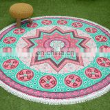 Indian wholesale mandala roundie 100% cotton round table cloth