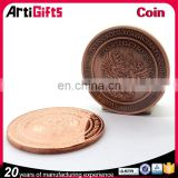 Copper plating metal blank souvenir coin