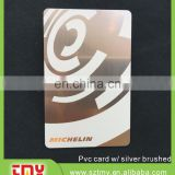 Brush plastic PVC gift card