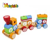 wholesale children educational wooden block train toys with ABC W04A393