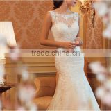 C50026A Sexy Mermaid Slimming Lace Wedding Dresses for Bride in 2016