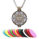 Perfume oil diffuser locket round ball fancy necklace in hollow-out sweater chain gifts small MOQ