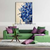 Abstract beautiful elegant adornment blue petals knife painting the living room oil painting in canvas