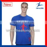 100%cotton round neck t-shirt silk printing t-shirt