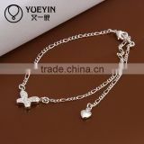 2014 Antique style silver anklet fashion indian bell anklet