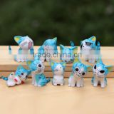 Blue cat doll doll cat furnishing articles Wholesale Anime Gifts PVC Figure A set of nine
