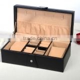 Black Leather Wooden Box For Jewelry and Watch, multifunctional jewellery box, gift box for men & women use