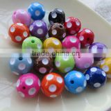 Mixed Colorful color Wholesales polka dot acrylic beads 20MM chunky beads for t Kids jewelry accessories!