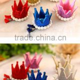 New glitter Crown Hairpins Hair Accessories Resin Diamond Pearls Girls Tiaras Headwear Baby Dancing Party Hair clipCB-3607