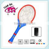 Dongyang TB-2015 mosquito swatter factory 7 LED light torch rechargeable mosquito swatter