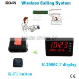 Waiter Call Button Wireless Call Bell System Table Buzzer Restaurant Pager With Strong Signal Factory Price