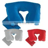 inflatable car flocked neck pillow