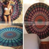 Wholesale Indian Mandala Round Hippy Boho Beach Tapestry Cotton Tablecloth Blanket Throw Yoga Mat Towel