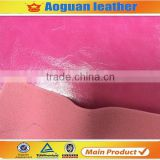 China shoes leather,hot sell fashion glossy oily rexine leather for ladies shoes and bags A1355