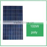 top sale ! High Efficiency and Good Quality100w poly solar panel with A grade solar cells for solar lighting system