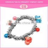 2016 new fashion girl simple trendy style make your own stainless steel bracelet resin materials