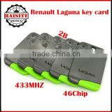 Factory price!!!20pcs/lot renault laguna card key with high quality renault laguna with 2 Button 433Mhz 10pcs/lot free dhl
