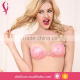 OEM Cheap Sexy Nude Clear Latex Invisible Backless Silicone Cup Bra