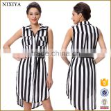 Fashion stripe private label plus size xxxl women clothing                                                                         Quality Choice