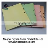 3 flap A4 with elastic band closure paper file folder                                                                         Quality Choice