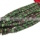 AAA Natural RUBY Zoisite faceted Rondelle Beads 6-12 mm 8 inches full Strand For making any kind of beautiful jewellery