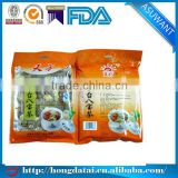 Empty heat seal foil wrapped tea packing bag biodegradable