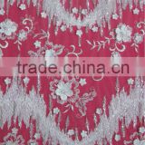 Fancy lace fabric with beads