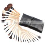 24pcs log color handle makeup kit free samples/Transparent cosmetic applicator tool kit pouch/private label make up brush set